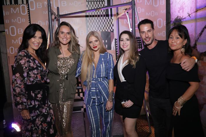 Patty Leone, Pamela Mariano, diretora de Branding da Mob, Luisa Sonza, Mariana Haddad, Spotlight Marketing & PR, Caio Fisher e Sandra Miqui