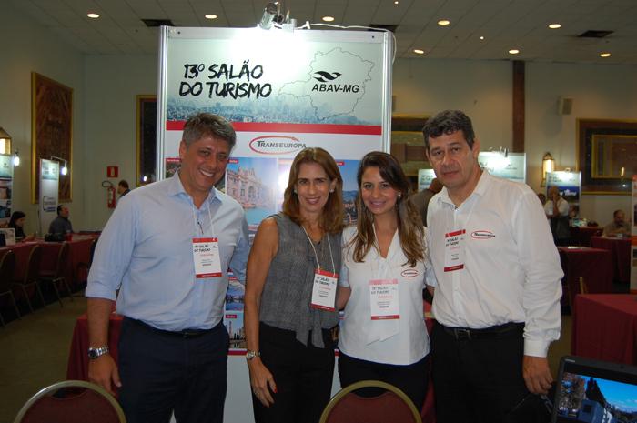 Paulo Max, Lilian Vasquez, Fernanda Rossi e Pablo Ayala, da Transeuropa