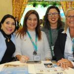 Regina Ahmed, da Bahiatursa, Beth Bauchwitz, de Tibau do Sul, Nayara Santana, da Emprotur RN, e Rosa Masgrau, do M&E