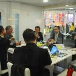 Reunião da Unesco, Setur-RJ e equipe da Embratur no estande do Brasil