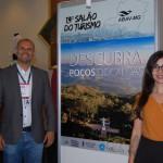 Ricardo Oliveira, da Setur de Poços e Caldas e Chiara Carvalho, da PCCVB