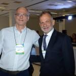 Ricardo Roman, da Interamerican, e Ricardo Fazzini, secretário de Turismo de Ilhabela