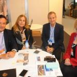 Robspierre Valcacio, do Vogal, Vania Mendes e Claudio Del Bianco, da Del Bianco, e Vanessa Mendonça, secretária de Turismo do DF