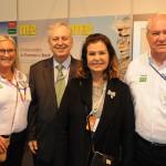 Rosa Masgrau, do M&E, Luiz Alberto Machado, embaixador do Brasil em Portugal, Teté Bezerra, presidente da Embratur, e Roy Taylor, do M&E