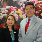 Rosi Prado, ministra do Turismo do Equador, e José Luis Egas, subsecretário de Mercados, Investimentos e RI do Equador