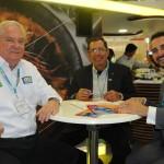 Roy Taylor, do M&E, Benedito Braga, da Setur-BA, e Gonzalo Paez, da FIT Buenos Aires