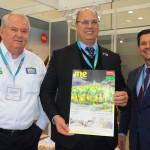 Roy Taylor, do M&E, Wilson Witzel, governador do RJ, e Otávio Leite, secretário de Turismo do RJ