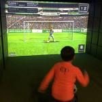 Simuladores são uma das atrações da área Goofy's Sports