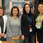 Teté Bezerra, presidente da Embratur, com Ana Maria Costa, Marcela Pessoa e Nayara Santana, do RN