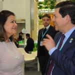 Teté Bezerra, presidente da Embratur, e Otávio Leite, secretário de Turismo do RJ