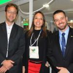 Thibaud Morand, da Latam, Mariana Rosa, da Passion Brazil, e Diogo Feijó, da Embratur