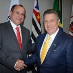 Toni Sando, presidente Executivo, e Raul Souza Sulzbacher, presidente do Visite São Paulo