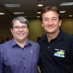 Vanilson Fickert, da Secretária de Turismo d Estado de São Paulo, e Ormelio Caporaline, da Maravilhas do Rio Grande