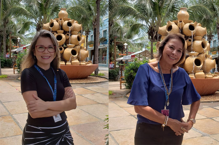 Alyne Menezes e Anunciada de Moraes, do Beach Park Entretenimento
