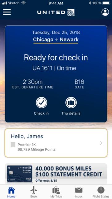Aplicativo United Airlines