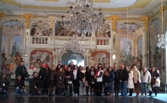 O grupo visitou algumas áreas do interior do castelo