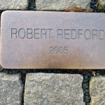 Placa de Robert Redford na fachada do Grandhotel Pupp