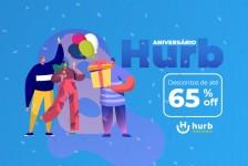 Hurb celebra oito anos de história com ofertas de até 65% de desconto