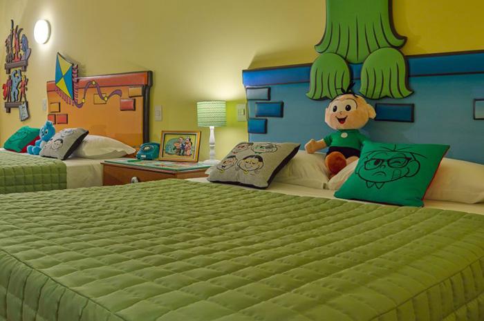 Resorts agora contam com quartos exclusivos dos personagens Mônica e Cebolinha