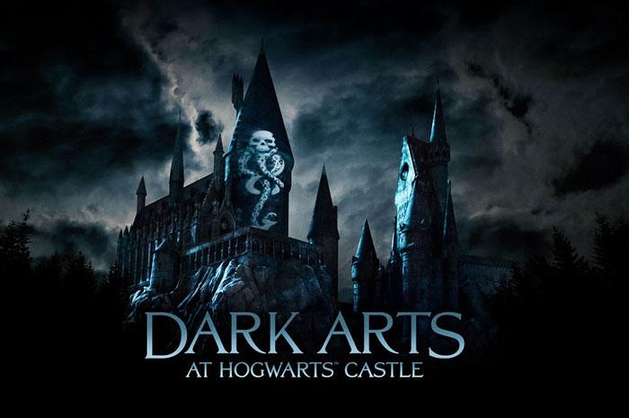"""The Wizarding World of Harry Potter"""" tem nova apresentação de iluminação: Dark Arts at Hogwarts Castle"""