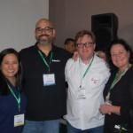 Adriana Santos, do Hotelbeds Group USA, Saulo Reis Jr da Schultz Brasil, Leo Segantin da Ezlink Hotels e Silvia Luise  Hackmann da Ezlink Hotels Online