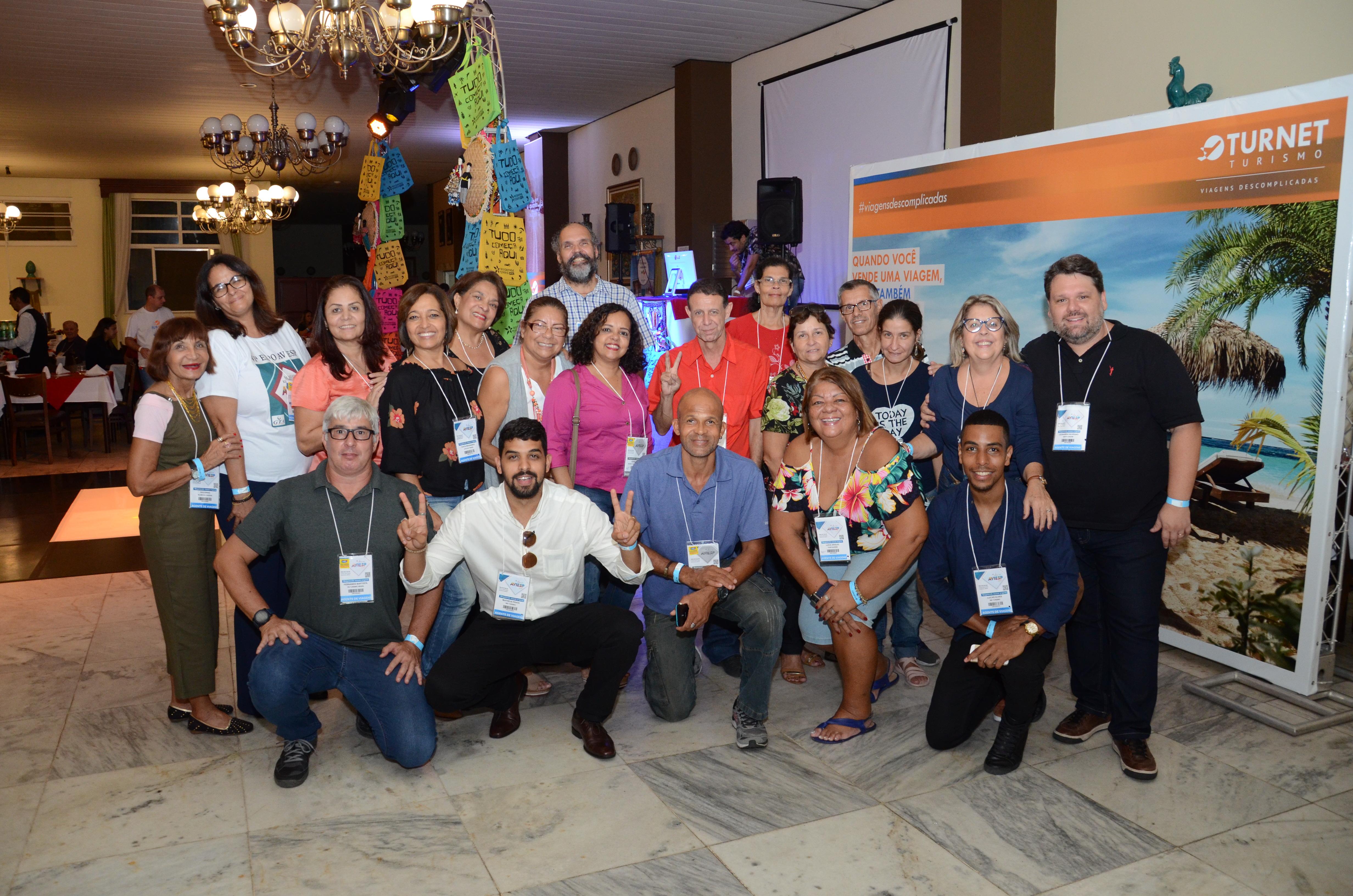 Agentes de viagens chegando na festa da Turnet e do Rio Grande do Norte