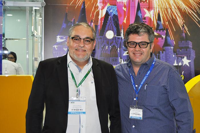 Agnaldo Abrahão e Denis Grant, da B2B Viagem