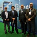 Aldo Carvalho, da Paraná Turismo, Marcio Nunes, secretario de Turismo do Paraná, João Mehl, presidente da Paraná Turismo, e Rafael Andreguetto, da Paraná Turismo