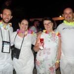 Alex Veiga e Priscila Julião, da AV Viagens, Teresinha Haas, da Zeppelin, e Jailson Paiva, da Líder Turismo