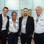 Alexandre Pinto e Renato Kiste, da Shift, com Mari MAsgrau e Roy Taylor, do M&E