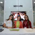 Aline Ferreira, Rubia Nascimento Hora e Lara Brunelle, da Secretaria de Estado do Turismo do Sergipe