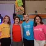 Ana Costa, secretária de Turismo do RN, entre Priscila Feola, do RN, Amauri Barbosa, da Turnet, e Ana Rita da Emprotur