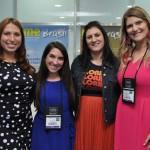 Ana Lucia Severo, Brianna Barnabee, Staci Mellman e Megan Dougherty, do Visit Florida