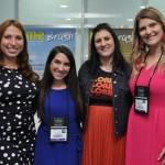 Ana Lucia, Severo, Brianna Barnabee, Staci Mellman e Megan Dougherty, do Visit Florida