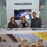 Ana Paula Azevedo, da Secretária de Estado de Turismo de Minas Gerais, Rosy Alvarenga, da Belotur, e Ricardo Campos, da HT Happy Travel
