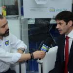 Anderson Masetto entrevista ministro do Turismo no estande do ME&