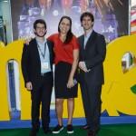 Bernardo Vilela, Karina Betencourt, e João Pita, da GRU Airport