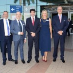 Bob Santos, do MTur, Claude Blanc, da WTM, Marcelo Alvaro Antônio, ministro do Turismo, Luciane Leite, da WTM-LA, e Fernando Fisher, da Reed