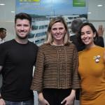 Bruno Carraro, do Instituto Municipal de Turismo de Curitiba, Tatiana Turra Korman, do Instituto Municipal de Turismo-Curitiba Turismo e Gabriella Camargo, do Parque das Pedreiras