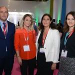 Cesar Ramirez, Natalia Vidal, Andrea Wolleter e Daniela Bergamine, do Chile