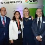 Cesar Ramirez e Andrea Wolleter, do Chile, com Luciane Leite e Claude Blanc, da WTM