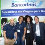Christian Neme, Maria Pereira, Aline de Jesus, e José Jurandir, da Bancorbrás Viagens