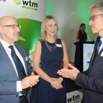 Claude Blanc e Luciane Leite, da WTM, com Marco Ferraz, da Clia Brasil
