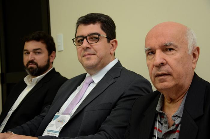 Marcelo Gatti, Marcos Lucas e Sebastião Pereira, diretores da Aviesp