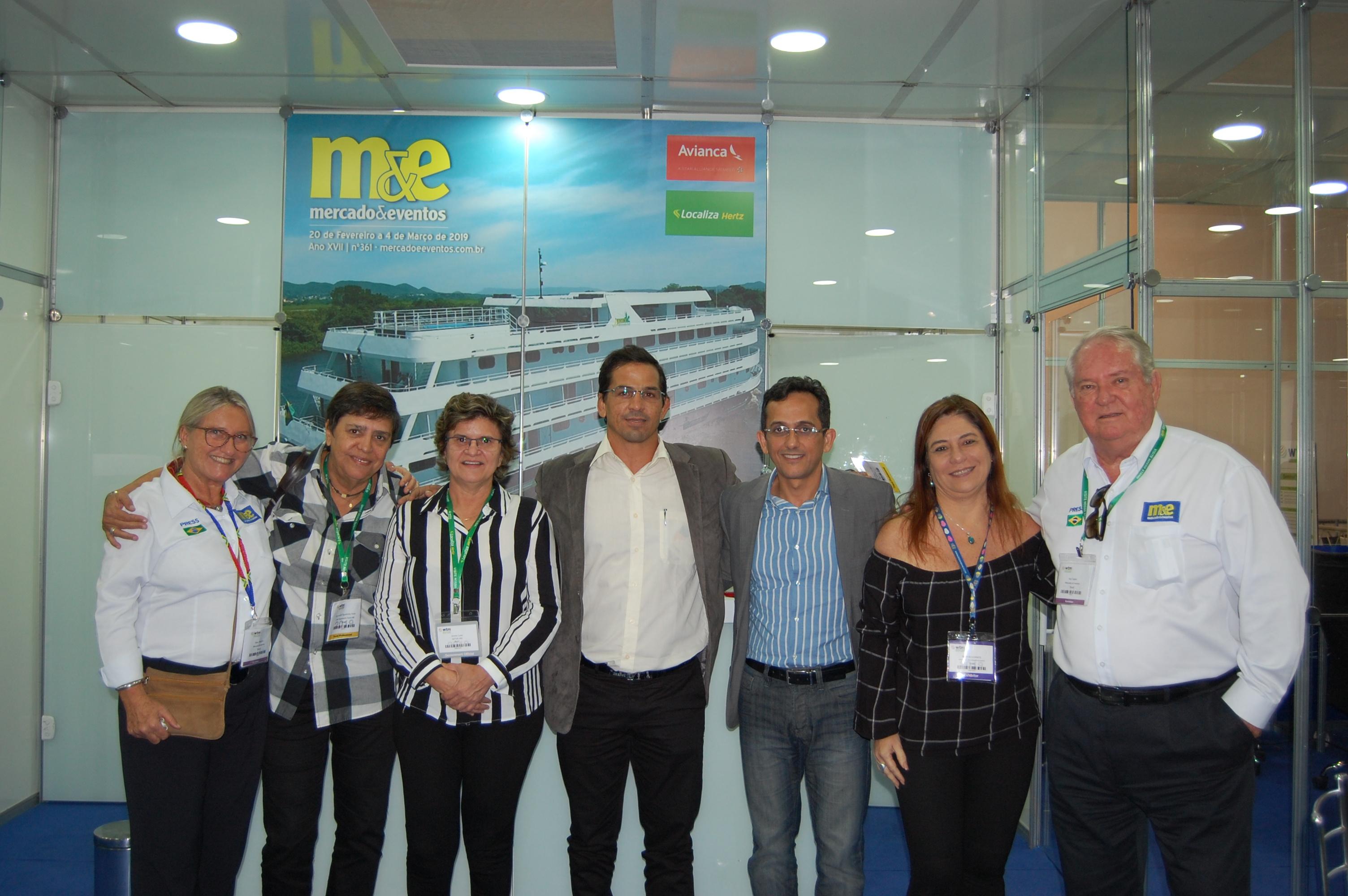 Equipe do Rio Grande do Norte entre Rosa Masgrau e Roy Taylor, do M&E