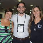 Danielle Novis, do Maceió CVB, Milton Vasconcelos, do ABIH-AL, e Adriana Vasconcelos, do Maceió Mar Hotel