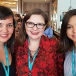 Dayane Lourenço (MCR TurismoCampinas), Ana Luisa (SNT Turismo Nova Odessa) e Angélica Miranda (Hi WorldCampinas)