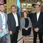 Denis Ribeiro, da Air France KLM, Adriano Nogueira, do Ceará, Suemy Vasconcelos e Régis Medeiros, Fortaleza CVB
