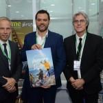 Diego Piquin, diretor Executivo de Turismo de Bariloche, Gaston Burlon, secretário de turismo, Leopoldo Tiberi, de Barilhoche