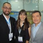 Diogenes Toloni, Gisela Marino e Ivan Blanco, da Aerolíneas Argentinas
